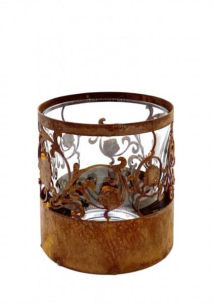 Teelicht Ornament Edelrost 130