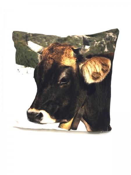 Dekokissen Schweizer Kuh mit Füllung 30x30