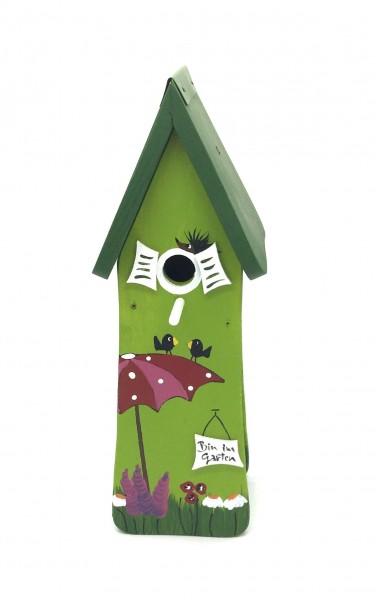 """Vogelhaus Minivilla """"Gartenzauber"""" kiwi"""