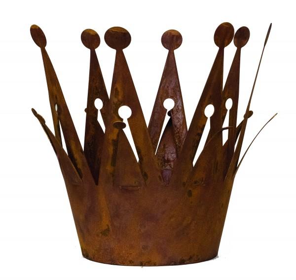 Prinzessinnenkrone 18cm Edelrost