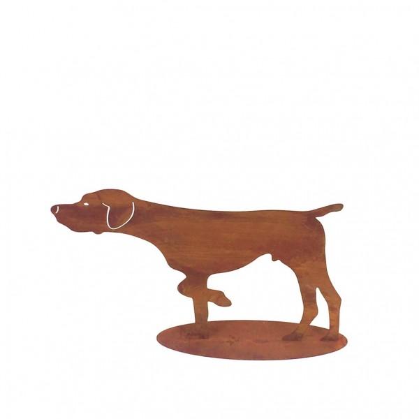 Edelrost Hund auf Platte klein